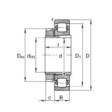 підшипник 20206-K-TVP-C3 + H206 FAG